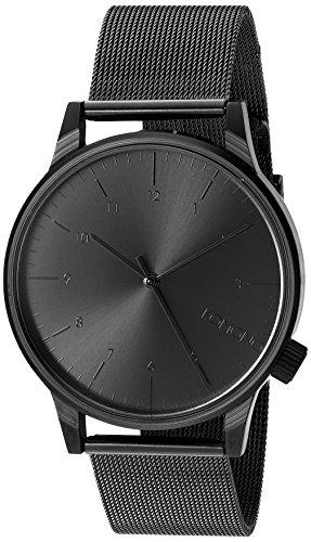 KOMONO Unisex KOM-W2352 Winston Royale Series Analog Display Japanese Quartz Black Watch