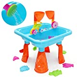 MAUBHYA Kids Outdoor Sand and Water Children Activity Play Table Sandpit Toy Set