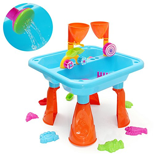 MAUBHYA Kids Outdoor Sand and Water Children Activity Play Table Sandpit Toy Set by MAUBHYA