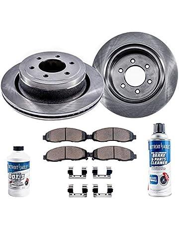 Detroit Axle - Pair (2) Front Brake Rotors w/Ceramic Pads & Brake