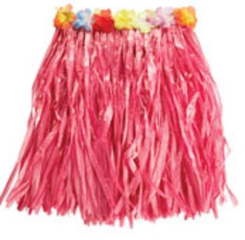 Hawaiian Grass Skirt - rosa - Length 50cm by Rubies