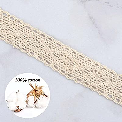 VU100 Scalloped Lace Edge Trim Eyelet 2-3//8 Inch 6 Yards Venice Floral Applique White Lace Trims Ribbon Embroidered for Sewing Bridal Wedding DIY Craft