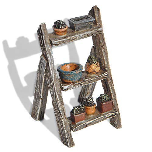 Plant Display Ladder for Miniature Garden, Fairy Garden