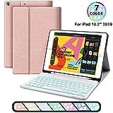 iPad Keyboard Case for iPad 10.2 2019 - JUQITECH Smart Case with Backlit Keyboard for iPad 7th Generation