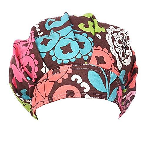Doctor Classic Scrub Hat Adjustable Sweatband Bouffant Cap for Women Ponytail(Print - Womens Hat Scrub Surgical