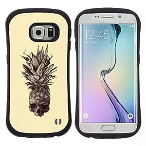 "Hypernova Slim Fit Dual Barniz Protector Caso Case Funda Para Samsung Galaxy S6 EDGE [Skull Tattoo Art Dibujo""]"