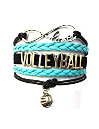 Braided Volleyball Bracelet-Gift Jewelry for Players,Fans,Lovers-6 Colors