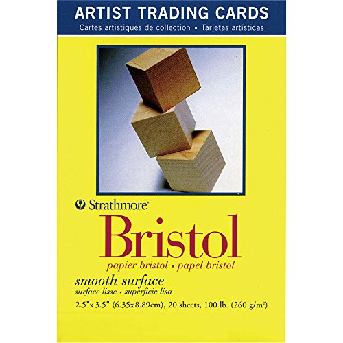 Strathmore 300 Series Bristol Artist Trading Cards, Smooth Surface, 20 Sheets ()