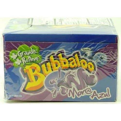 BUBBALOO CHEWING GUM MORA AZUL (BLUE BERRY SOUR) ( 50 in a Pack ) ()