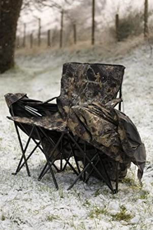 Stealth Gear Two Man Chair Hide includes 2 Foldable Chairs Linked Together