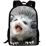 JJHGNL Baby Possum School Backpack for Girls Teens Bookbag Cute School Bag Set Water Resistant Travel Daypack