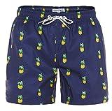 MaaMgic Mens Slim Fit Quick Dry Short Swim Trunks with Mesh Lining,Large(Waist:33''-35''),New-qma199-pineapple