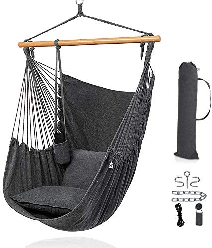 ONCLOUD XXL Large Hanging Rope Hammock Chair Porch Swing