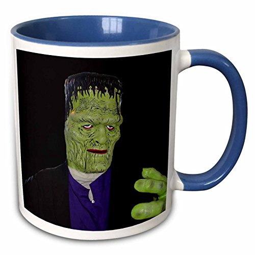[3dRose Sandy Mertens Halloween Designs - Frankenstein Halloween Costume - 11oz Two-Tone Blue Mug] (Frankenstein Costume Pics)