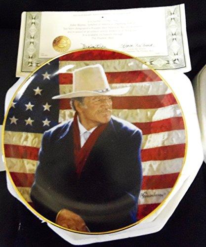 JOHN WAYNE, COWBOY LEGEND Porcelain Collector Plate by The Franklin Mint (John Wayne Collector Plates)