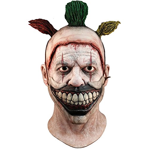 Generique Trick or Treat–MAHAL702–Mascara Completa de latex para Adulto, Twist le Clown, Desmontable