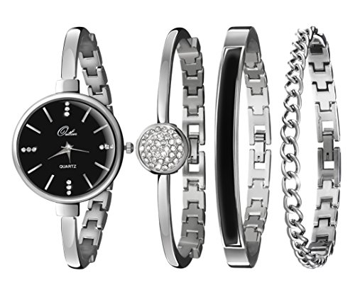 Outlier Watch & Bracelet Set for Women - Stunning Bangle, Cuff & Chain Bracelet Jewelry in a Sleek Gift Box