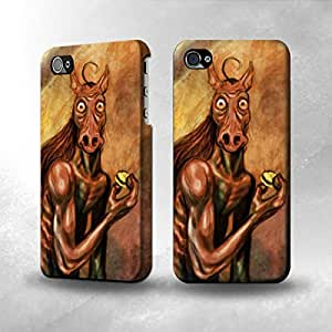 Apple iPhone 4 / 4S Case - The Best 3D Full Wrap iPhone Case - Tikbalang the demon horse Painting
