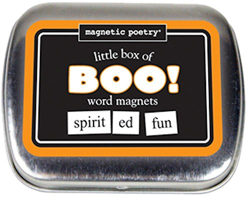 Magnetic Poetry - Little Box of Boo Halloween Kit - Words for Refrigerator - Write Poems and Letters on the Fridge - Made in the USA ()