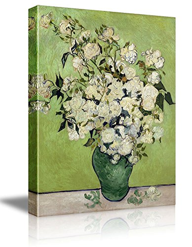 Irises and Roses by Vincent Van Gogh Oil Painting Reproduction