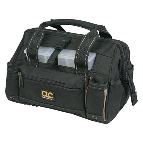 Custom LeatherCraft 1535 18 Tote Bag with Top Plastic Tray by CLC Work Gear