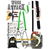 WOSS AttacK Trainer Made in USA - Best PRO Trainer System with Rubber Grips (Neon Green)