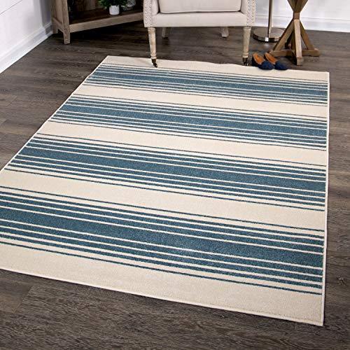 Orian Rugs Farmhouse Sonoma Collection 409864 Indoor/Outdoor Simple Stripe, Area Rug, 5'2