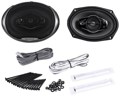"""Kenwood KFC-6994PS 6""""x9"""" 500 Watt 5-Way Car Audio Coaxial Speakers 6x9 With (Kenwood Home Audio Speakers)"""