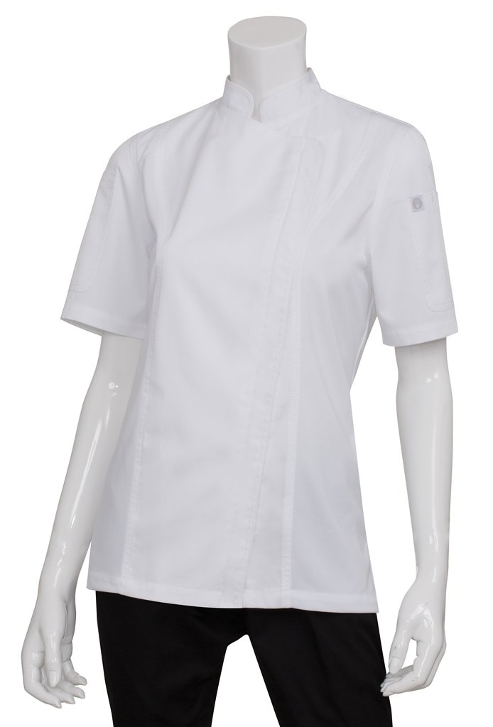 Chef Works Women's Springfield Chef Coat, White, Large by Chef Works