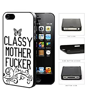 Classy Mother F*cker Butterfly Hard Plastic Snap On Cell Phone Case Apple iPhone 4 4s