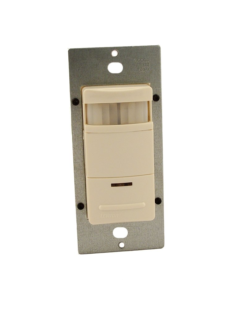 Leviton Ods10 Idt Decora Wall Switch Occupancy Sensor 120 277v Building Wiring Diagram Lights Rating Light Almond Motion Activated Switches