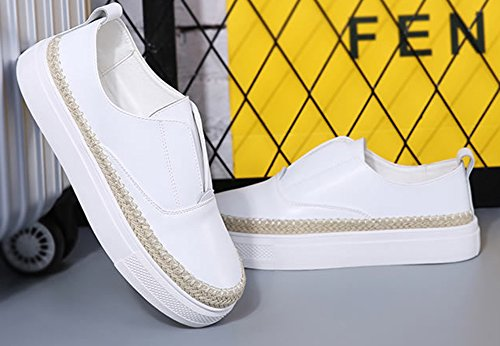 Espadrille Rond Epais Aisun Talon Blanc Classique Bout Baskets Femme g6wqY4Xqv