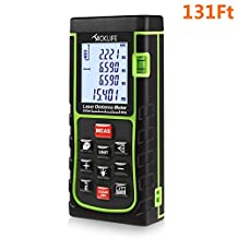 Tacklife 131 Feet Laser Distance Measure with Single Distance & Continuous Measurement, Area & Volume Measurement; Range Finder with m/in/ft, Laser Measure 0.05 to 40m
