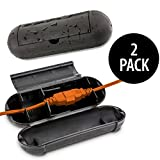 KOVOT Extension Cord Safety Cover Protectors 2 Pack, Black: Great Protection Against Rain & Snow (2)