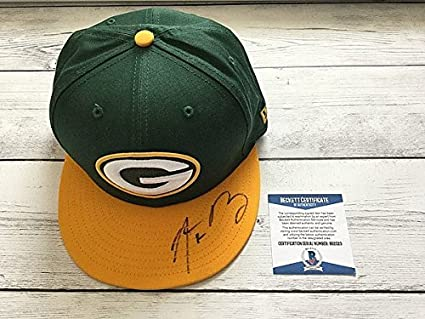 48d75c748 Aaron Rodgers Signed Green Bay Packers Hat BAS Beckett COA Signed New ERA a