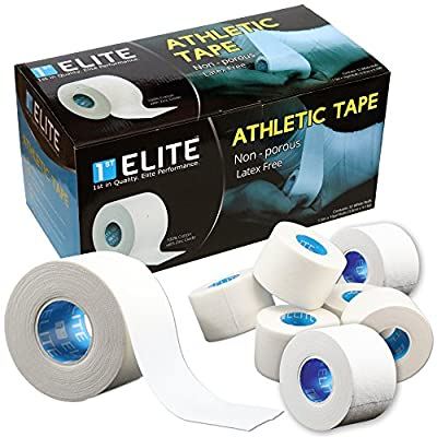 Professional Athletic Tape for Elite Athletes Sports & Athletics - White Medical Grade Tapes to Wrap Finger Bat Prewrap (Bulk)