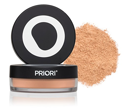 Priori All-Natural Mineral Powder Foundation SPF 25 - Antioxidant Enriched, Broad Spectrum Sunscreen, Flawless Coverage Mineral Makeup - Shade 2 Light Ivory