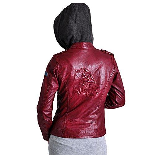 Animales fantásticos damas chaqueta de cuero con Niffler objeto de Animales fantásticos roja Rojo