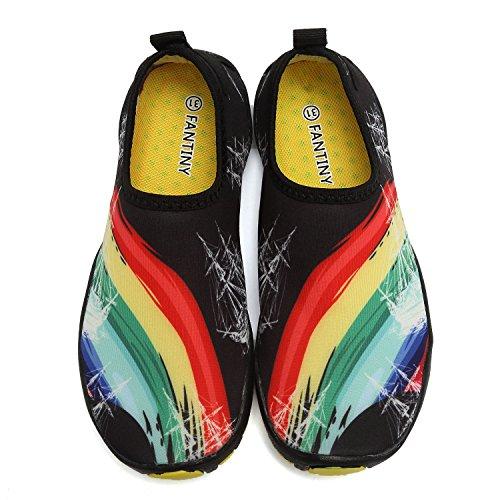 Cior Fantiny Jongens & Meisjes Waterschoenen Lichtgewicht Comfortzool Easy-walking Atletische Slip Op Aquasok (peuter / Klein Kind / Groot Kind) W.rainbow