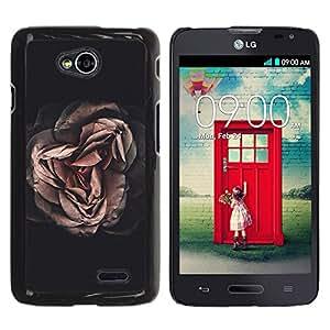 iKiki Tech / Estuche rígido - Dark Meaning Deep Black Vignette - LG Optimus L70 / LS620 / D325 / MS323