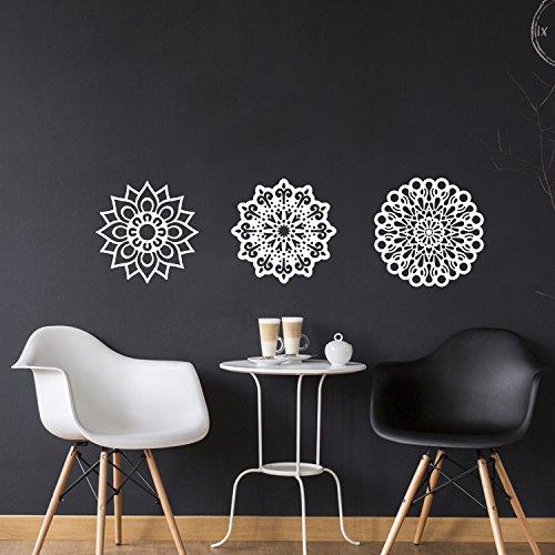 Vinyl Wall Art Decal - Set Of 3 Mandalas - 20