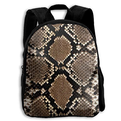 Snake Scales Skin Gray Kid Backpacks For Boys And Girls Preschool Backpack School Bag ()