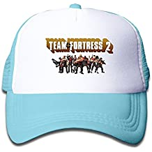 Customized Team Fortress 2 Youth Mesh Cap Hat Boys Girls Adjustable One Size SkyBlue By JAC8I