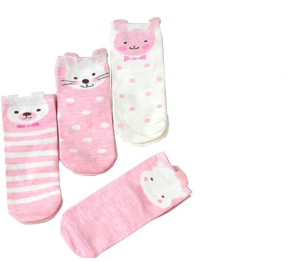 FOURCHEN Calzini per bambini, calze di cotone per bambini piccoli, calze per l'autunno inverno, calze morbide e traspiranti per bambini e ragazzi