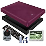 FREE FLOW WATERBED MATTRESS / LINER / HEATER / PAD / FILL DRAIN / CONDITIONER KIT (Super Single 48x84 1FFB4)