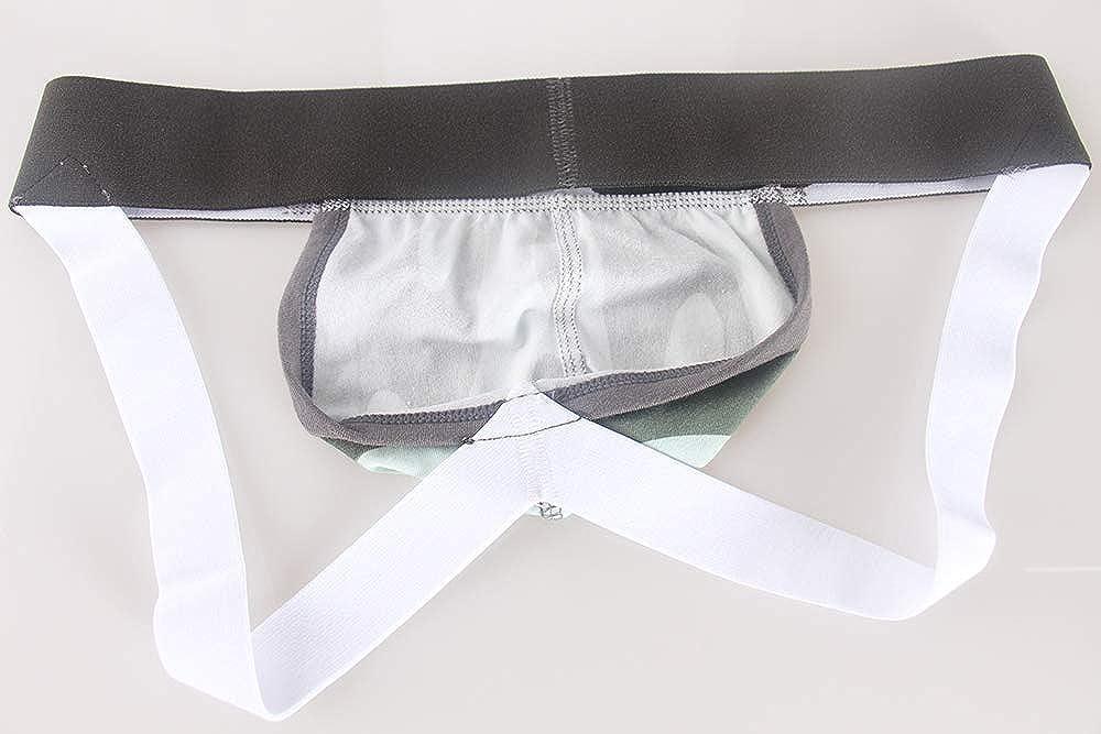 Swbreety Mens Breathable Cotton Underwear Low Rise Camo Performance Jockstrap