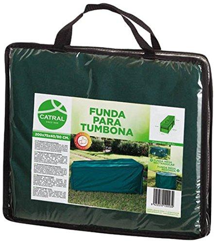 Catral 53010022 Funda para Tumbona Verde Oscuro 200x75x80 cm