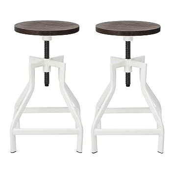 viva home swivel bar stool industrial pub height barstool with elm seat set of