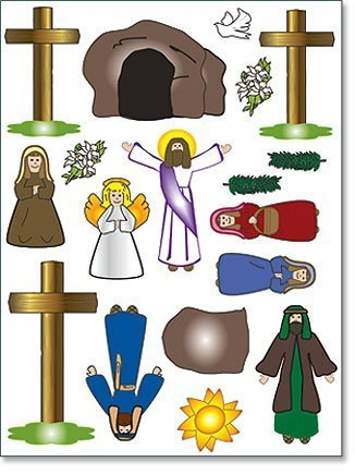 Religious easter gift he has risen christ resurrection scene 18 religious easter gift he has risen christ resurrection scene 18 piece magnet set by religious gifts negle Gallery
