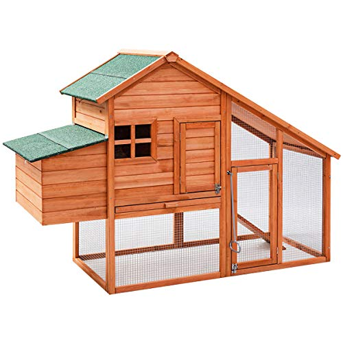 Tangkula 67' Chicken Coop Outdoor Garden Backyard Large Wood Hen House Rabbit Hutch Poultry Cage...